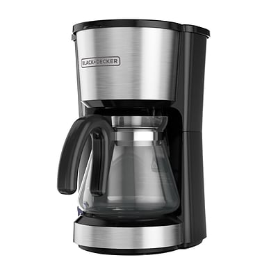 Black & Decker® CM0755S 5 Cup 4-in-1 Station Coffee Maker, Stainless Steel
