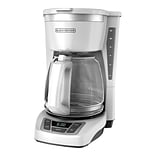 Black & Decker® CM1160 12 Cup Programmable Coffee Maker, White