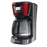 Black & Decker® CM2030 12 Cup Programmable Coffee Maker, Red