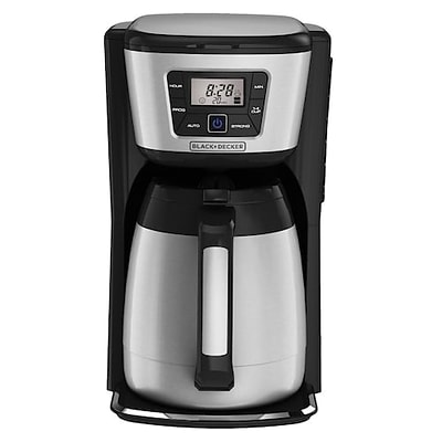 Black & Decker® CM2035SM 12 Cup Thermal Programmable Coffee Maker, Stainless Steel