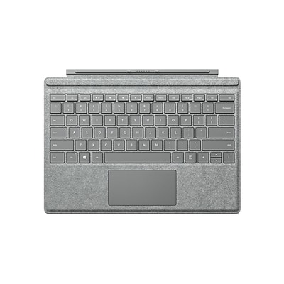 Microsoft Surface Pro Signature Type Cover Keyboard with Trackpad for Surface Pro (Mid 2017), 3, 4, 6, 7, Platinum (FFP-00141)