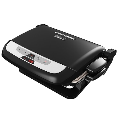George Foreman® 5 Serving Evolve Electric Grill with Waffle Plates & Ceramic Grill Plates, Black (GRP4842MB)