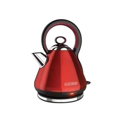 Black & Decker® 1.7 L Stainless Steel Cordless Electric Kettle, Red (KE2900R)