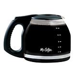 Mr. Coffee® 12-Cup Glass Carafe, Black (PLD12RB)