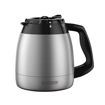 Black & Decker® 12-Cup Stainless Steel Thermal Carafe, Black (TC1200B)