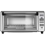 Black & Decker® Stainless Steel 8-Slice Digital Extra-Wide Convection Countertop Oven, Silver (TO329