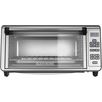 Black & Decker® Stainless Steel 8-Slice Digital Extra-Wide Convection Countertop Oven, Silver (TO3290XSBD)