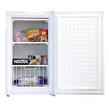 Midea® 3 cu.ft. Single Reversible Door Compact Upright Freezer, White (WHS109FW1)