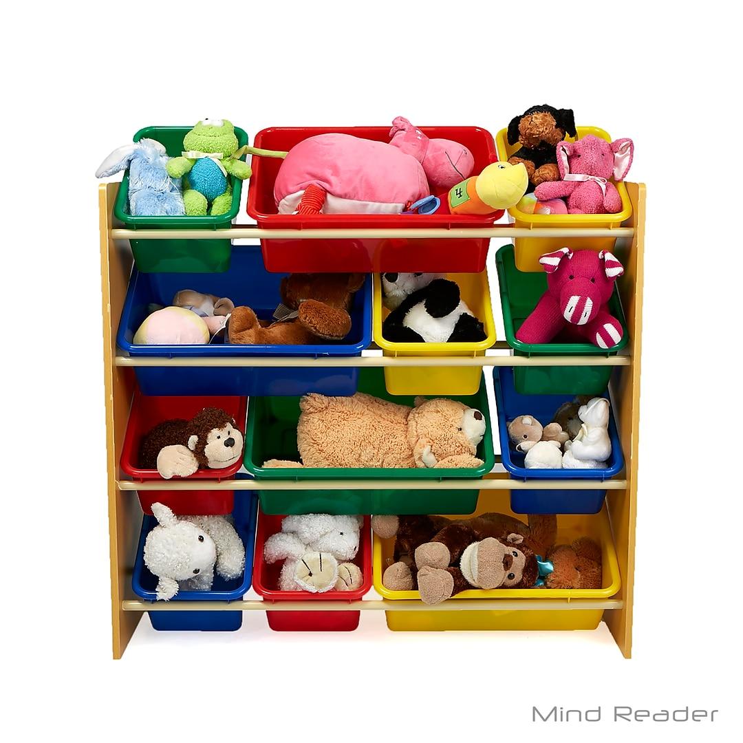 Mind Reader 4 Tier Wood Toy Organizer Brown 4toyg Brn Quill Com