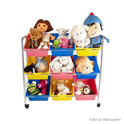 Mind Reader 9 Drawer Rolling Toy Organizer, Multi (RTOYG9-ASST)