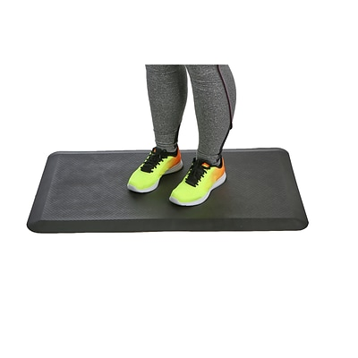 Mind Reader Comfortable, Anti Fatigue Mat Perfect for Kitchen, Office Standing Desk, Black (SDMAT-BLK)