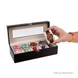 Mind Reader Single Row Watch Box Holder, Black (WATCHBOXSM-BLK)