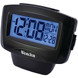 Westclox 72020 Large Easy-To-Read Lcd Alarm Clock With Day/Date (NYL72020DS)