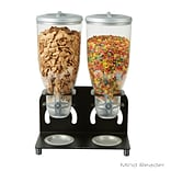 Mind Reader Metal Double Standing Cereal Dispenser, Black (KELL200-BLK)