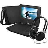 Ematic EPD707BL 7 Portable DVD Player Bundles (Black)