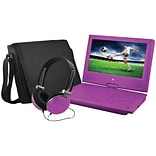 Ematic EPD909PR 9 Portable DVD Player Bundles (Purple)