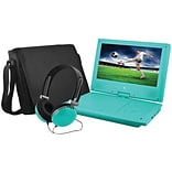 Ematic EPD909TL 9 Portable DVD Player Bundles (Teal)