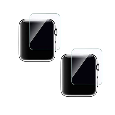 Apple Watch Premium Tempered Glass Film Screen Protector, 0.42, 2 Pack (DSPGAPWATCH42X2)