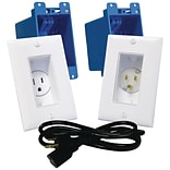 MIDLITE A46-W Décor Recessed Receptacle & Power Inlet Kit (White) (MDTA46WDS)