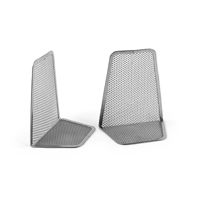 Design Ideas Mesh Bookends, Set of 2, Silver (342039)