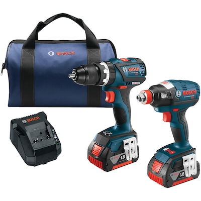 "Brushless 1/4"" & 1/2"" Socket Ready Impact Driver & Brushless Compact Tough 1/2"" Hammer Drill/Driver 18 Volt Cordless Combo Kit"