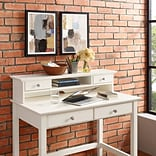 Crosley Campbell Writing Desk Hutch in White Finish (CF6510-WH)