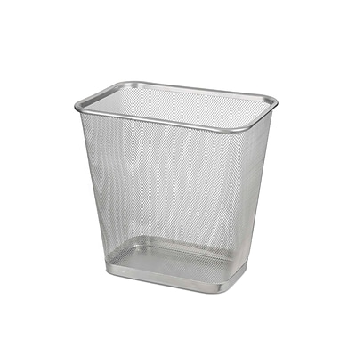 Design Ideas Mesh Mini Waste Bin, Silver (342279)