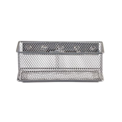 Design Ideas Mesh MagNet Bin, Large, Silver (351329)