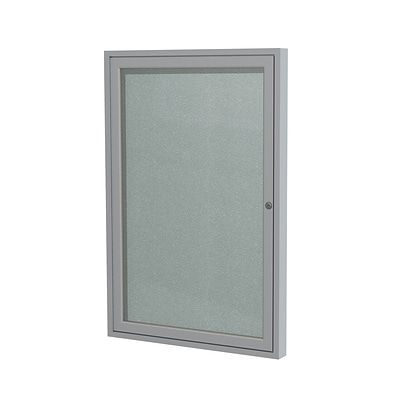 Ghent 24 H x 18 W Enclosed Vinyl Bulletin Board with Satin Frame, 1 Door (PA12418VX-193)