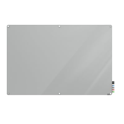 Ghent Harmony 4 H x 6 W Glass Whiteboard with Radius Corners, Gray (HMYRN46GY)