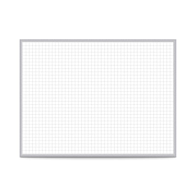 Ghent 1 x 1 Grid Magnetic Whiteboard, 4 H x 8 W (GRPM321G-48)