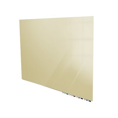 Ghent Aria 4 H x 5 W Low Profile Magnetic Glass Whiteboard, Beige (ARIASM45BG)