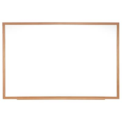 Ghent 2 H x 3 W Magnetic Porcelain Whiteboard with Wood Frame (M1W-23-1)