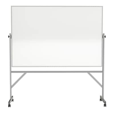 Ghent 4 H x 6 W Reversible Magnetic Porcelain Whiteboard with Aluminum Frame (ARM1M146)