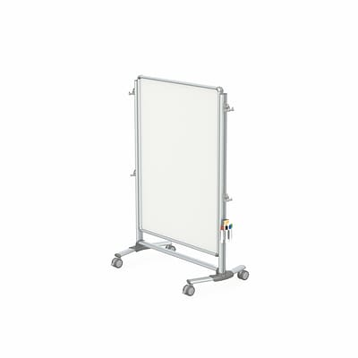 Ghent Nexus Jr. Partition 57 H x 40 W Mobile 2-Sided Porcelain Magnetic Whiteboard (NEX223MMP)