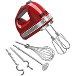 KitchenAid 9-Speed Hand Mixer with Turbo Beater II Accessories, Empire Red (KHM926ER)