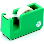 Office + Style Desktop Tape Dispenser, Non-Skid Weighted Base, Green (OS-TDGRN)