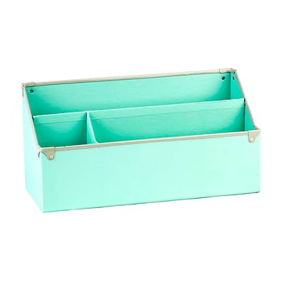 Design Ideas Paperboard Frisco Desk Organizer, Mint (3060622)
