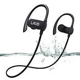 Laud Active Sport Water Resistant Bluetooth Earbuds for Gym, Workouts, Running, Black (LAUDACTV1-BLK