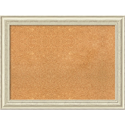 Amanti Art Framed Cork Board Large Country White Wash 33 x 25 Frame White (DSW3979328)