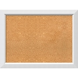 Amanti Art Framed Cork Board Large Blanco White 32 x 24 Frame White (DSW3979382)