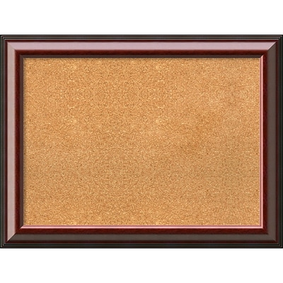 Amanti Art Framed Cork Board Large Cambridge Mahogany 33 x 25 Frame Mahogany (DSW3979436)