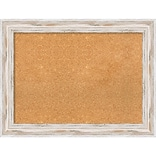 Amanti Art Framed Cork Board Large Alexandria White Wash 33 x 25 Frame White (DSW3979463)