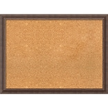 Amanti Art Framed Cork Board Large Distressed Rustic Brown 31 x 23 Frame Brown