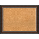 Amanti Art Framed Cork Board Large Cyprus Walnut 33 x 25 Frame Walnut (DSW3980009)