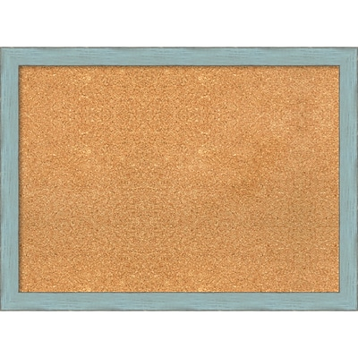Amanti Art Framed Cork Board Large Sky Blue Rustic 31 x 23 Frame Blue (DSW3981373)