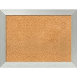 Amanti Art Framed Cork Board Large Brushed Sterling Silver 32 x 24 Frame Silver (DSW3982813)