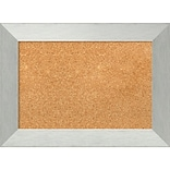 Amanti Art Framed Cork Board Small Brushed Sterling Silver 22 x 16 Frame Silver (DSW3982817)