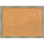 Amanti Art Framed Cork Board Large Warm Silver Swoop 30 x 22 Frame Silver (DSW3994653)