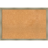 Amanti Art Framed Cork Board Extra Large Warm Silver Swoop 38 x 26 Frame Silver (DSW3994654)